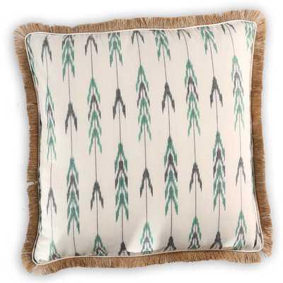 Sutton Cotton-Burlap Pillow Cover - AllModern