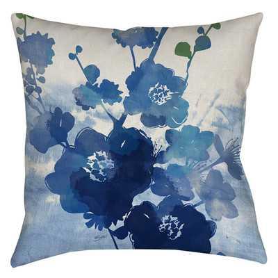 "Streams of Blues Printed Throw Pillow-14""-no insert - Wayfair"