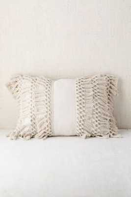 Venice Net Tassel Bolster Pillow - Neutral, 14x20 - Urban Outfitters