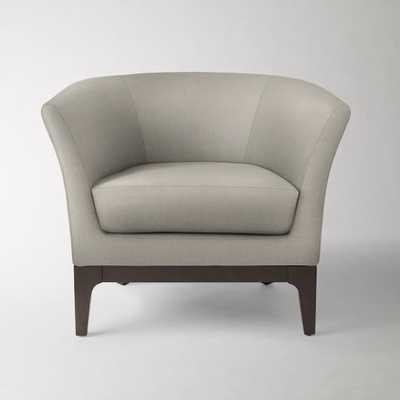 Tulip Chair - Basketweave, Putty Gray - West Elm