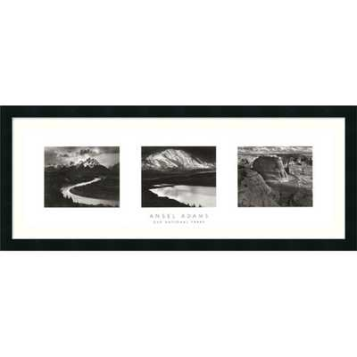 'Our National Parks (Triptych)' by Ansel Adams Framed Photographic Print - AllModern