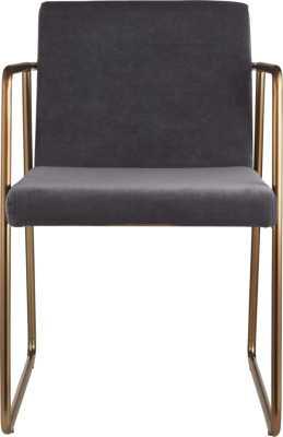 Rouka grey chair - CB2