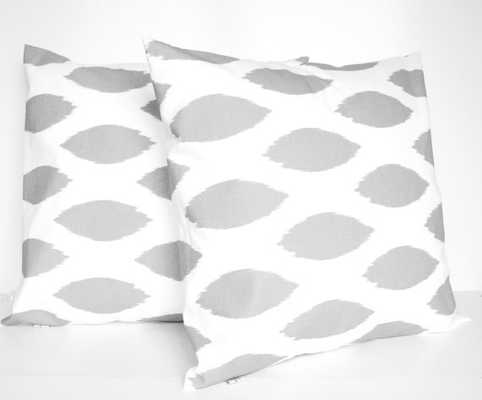 "Grey Pillow Covers - 18"" x 18"" - Insert sold separately - Etsy"