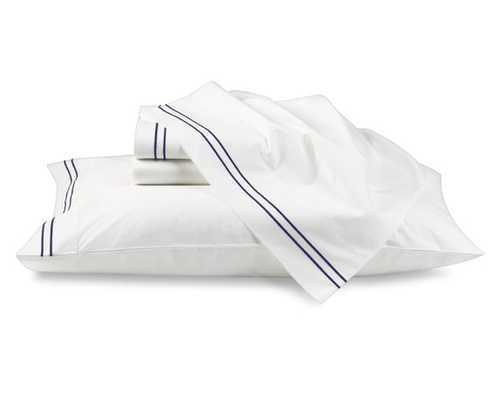 Hotel Bedding - Cases, Pair - Standard, Navy - Williams Sonoma