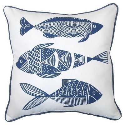 Outdoor Pillow - Blue Fish - Target