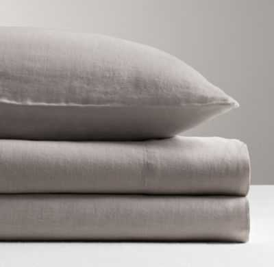 garment-dyed linen standard pillowcase - RH Baby & Child