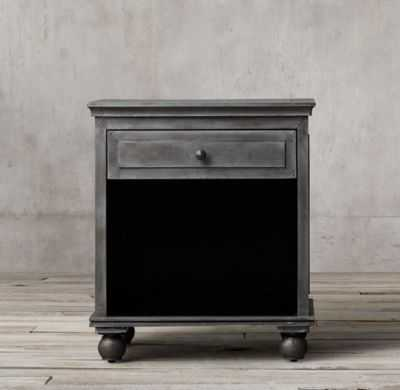 ANNECY METAL-WRAPPED OPEN NIGHTSTAND - RH