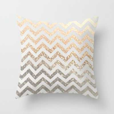 "GOLD & SILVER-THROW PILLOW/INDOOR COVER (16"" X 16"")-No Insert - Society6"