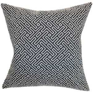 Ocussi Geometric Pillow Navy - Linen & Seam