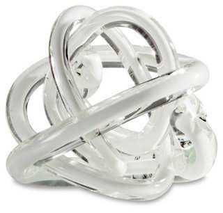 Orbit Glass, White - One Kings Lane