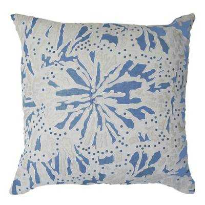 """Butterfly Decorative Throw Pillow - 22""""sq - feather insert - Frontgate"""