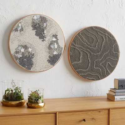 Sequin Hoop Wall Art - Set of 2 - West Elm