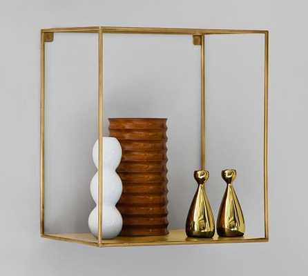 Cube Display Shelves - Brass - Large Rectangle - Pottery Barn