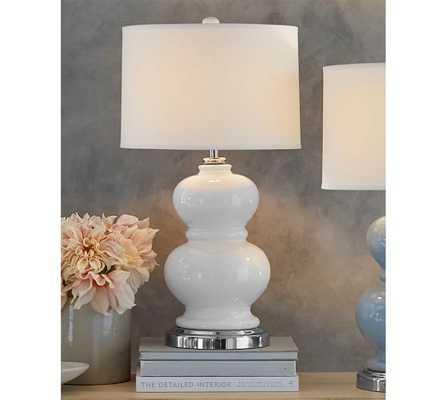 Alexis Ceramic Bedside Lamp Base - White - Pottery Barn