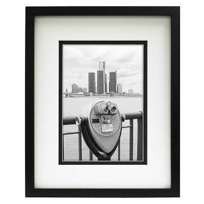 """Room Essentialsâ""""¢ Double Matted Linear Frame - Black 5x7 - Target"""