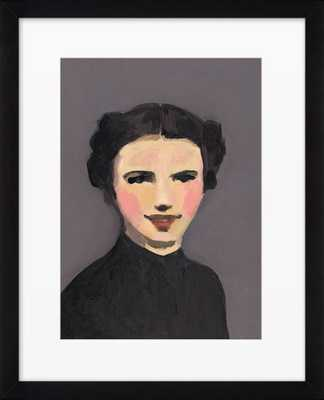 """Bette - 15"""" x 12"""" -With Black  Framed - Domino"""