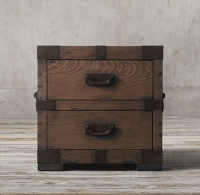 HEIRLOOM SILVER-CHEST 2-DRAWER SIDE TABLE - RH