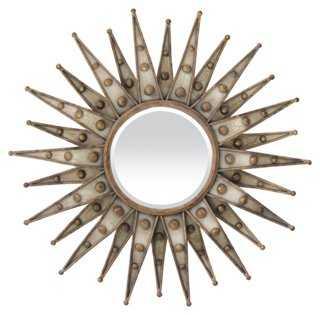 Brandt Starburst Wall Mirror, Brass - One Kings Lane
