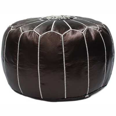Casual Living Leather Moroccan Ottoman Pouf - Overstock