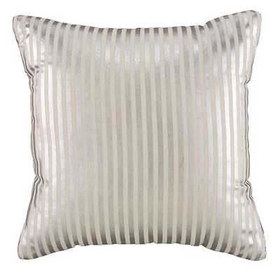 Pinstripe Pillow - Silver - 14x14 - With Insert - Land of Nod