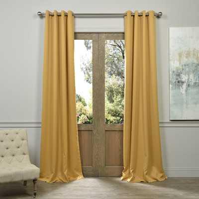 """Plush Grommet Blackout Curtain Pair - Marigold, 120""""L - Wayfair"""