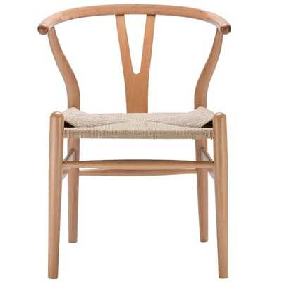 Weave Wishbone Style Y Arm Chair in Natural - Overstock