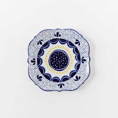 Collector's Editions Plates - Navy + Yellow Speckle - West Elm