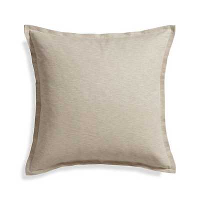 "Linden Natural 23"" Pillow with Feather-Down Insert - Crate and Barrel"