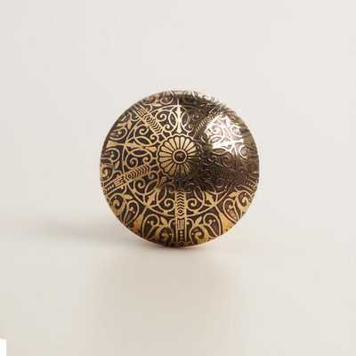 Metal Engraved Knobs - World Market/Cost Plus