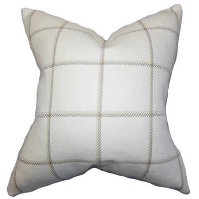 Wilmie Plaid Cotton Throw Pillow 18x18 with insert - Wayfair