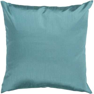 "Amelia Solid Luxe Throw Pillow - 18"", Turquoise, insert - Wayfair"
