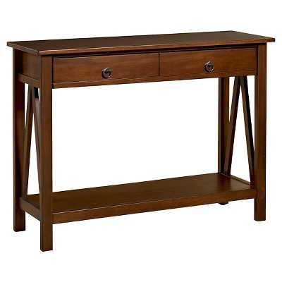 Console Table Tobacco - Target