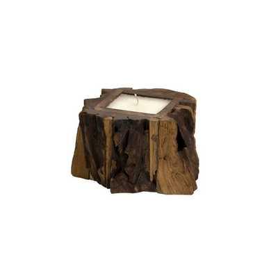 Small Teakwood Candle - High Fashion Home