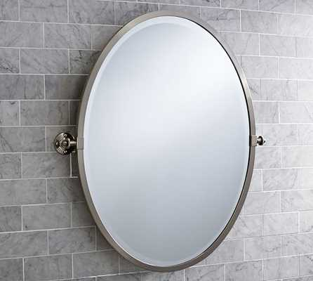 Kensington Pivot Oval Mirror - Pottery Barn