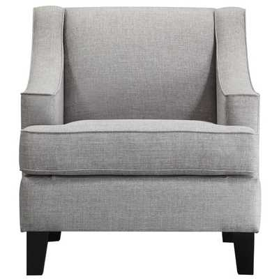 INSPIRE Q Winslow Concave Arm Modern Accent Chair-Grey Linen - Overstock