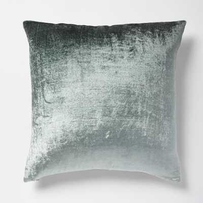 """Ombre Velvet Pillow Cover - Blue Stone - 18""""sq. - Insert sold separately - West Elm"""
