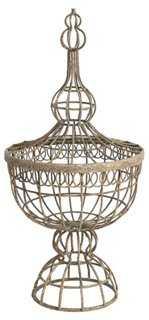 """22"""" Wire-Basket Finial - One Kings Lane"""