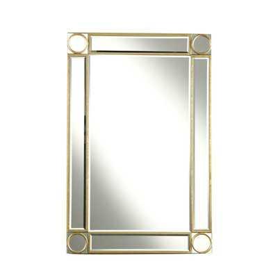 Audrey Rectangular Wall Mirror - Gold - Wayfair