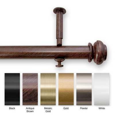 Adjustable Curtain Rod Set for Patio Doors - Overstock