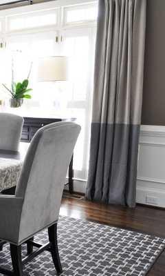 "96""L Color Block Drapery Panel - custom curtains - 28 color options - Custom Draperies - Etsy"
