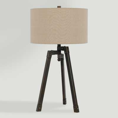 Iron Industrial-Style Langston Tripod Table Lamp - World Market/Cost Plus