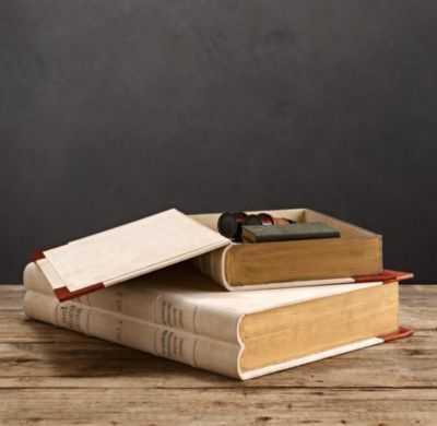ANTIQUARIAN BOOK BOXES - RH