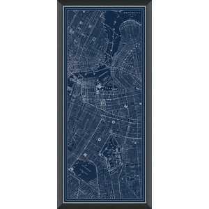 Brooklyn, NY Navy Map - Domino