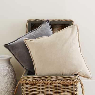 """Samara Velvet 20"""" Square Natural Pillow/insert sold separately - Birch Lane"""