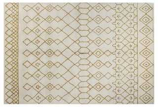 Charlotte Rug, Ivory/Gold - One Kings Lane