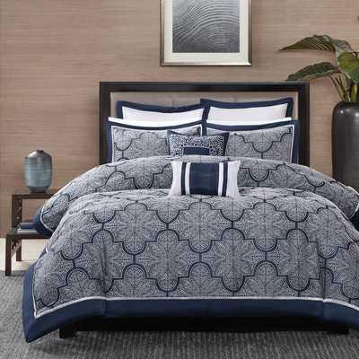 Medina Comforter Queen Set - Navy - Wayfair