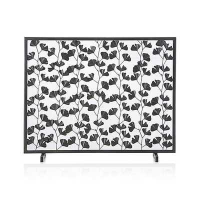 Ginkgo Bronze Fireplace Screen - Crate and Barrel