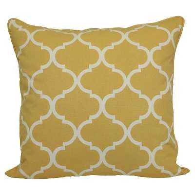 Threshold™ Oversized Lattice Pillow - Yellow - Target