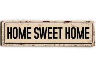 Home Sweet Home Wood Sign - One Kings Lane