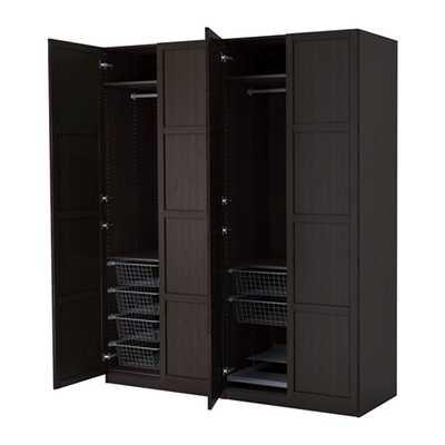 PAX Wardrobe - Black-brown - Hemnes black-brown - Ikea